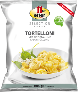 11er Tortelloni with ricotta and spinach