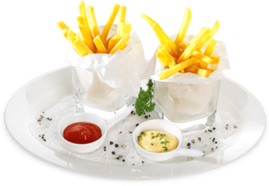 "11er ""Unsere Besten"" French fries as fingerfood"