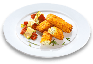 11er Rosti Pockets with Cream Cheese with fried peppers and courgettes